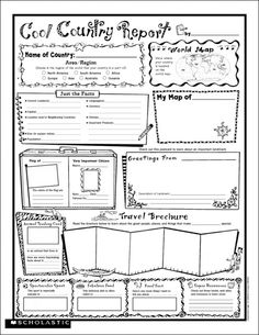 4 Best Images Of My State Report Printable My Great