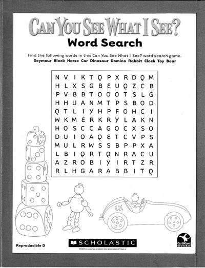 summer reading word search pdf