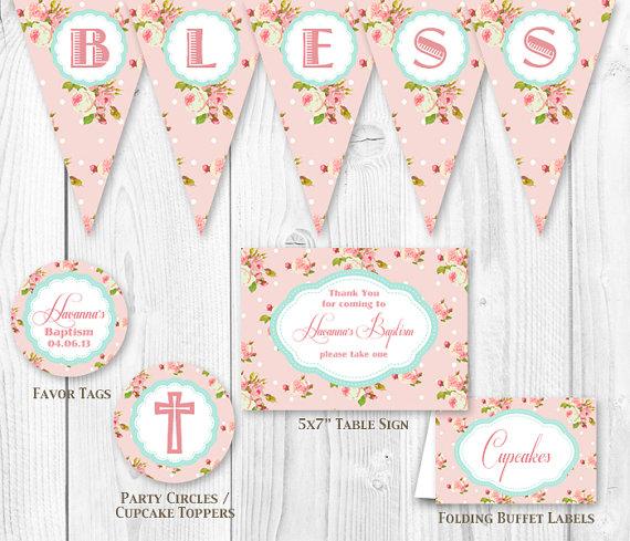 Shabby Chic Baptism Decoration Ideas