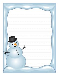 Winter border paper