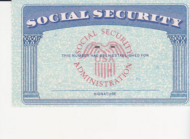 Social Security Card Blank