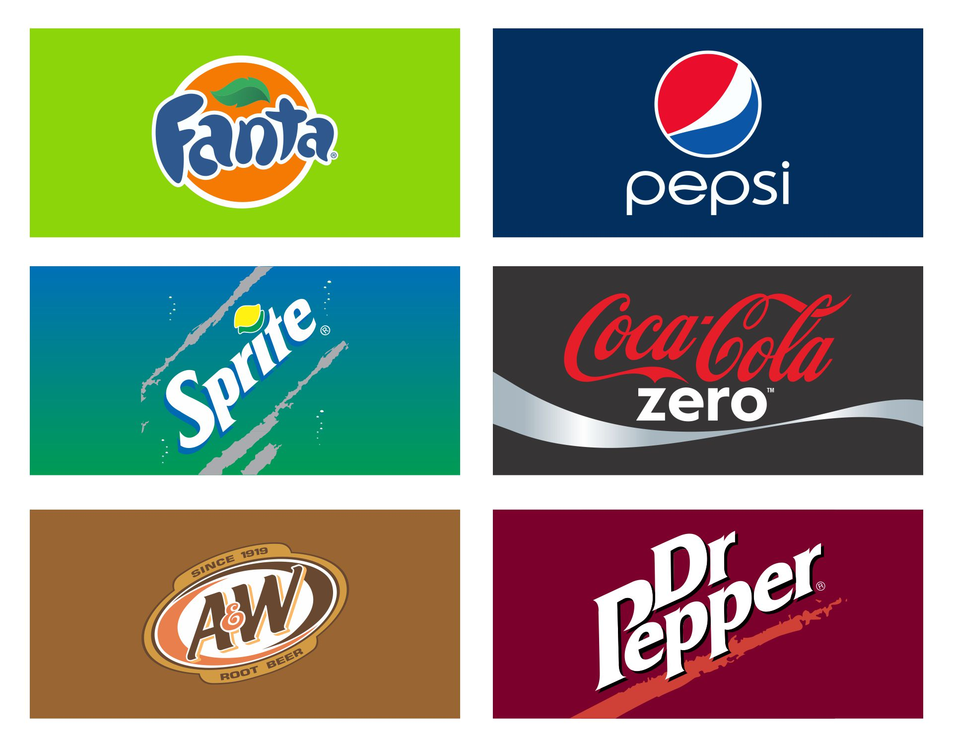 Soda Vending Machine Labels