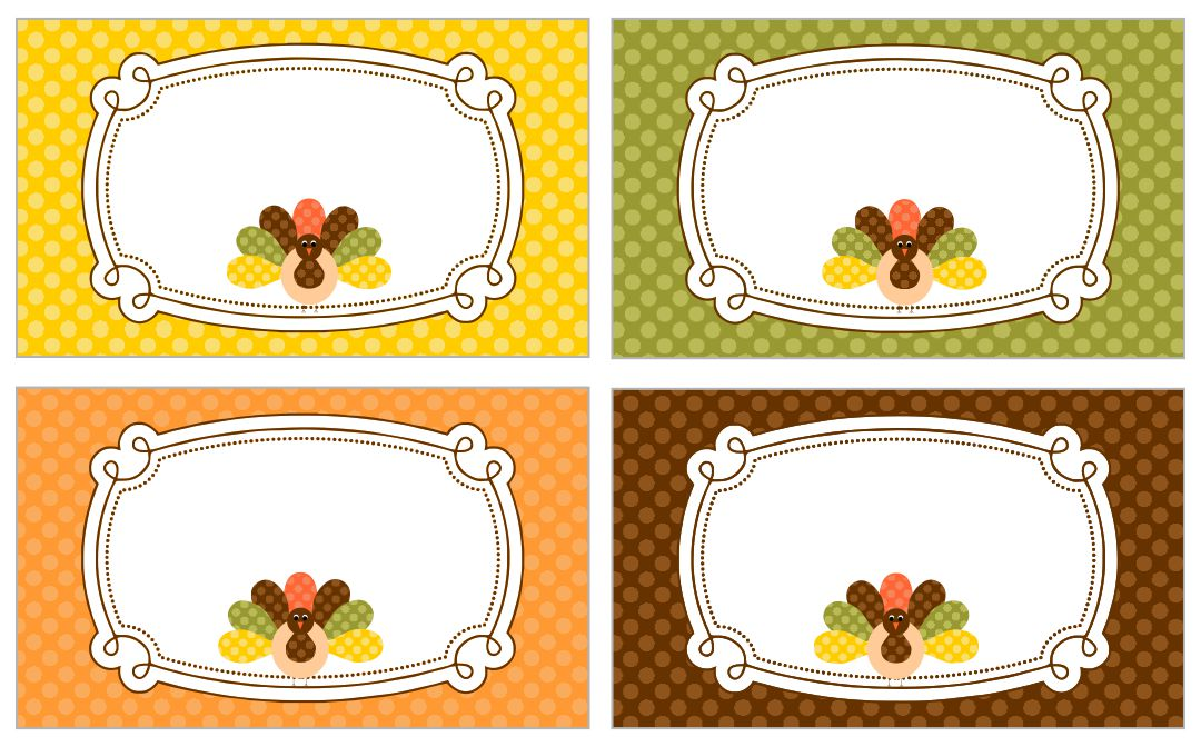 Thanksgiving Buffet Label Template Free