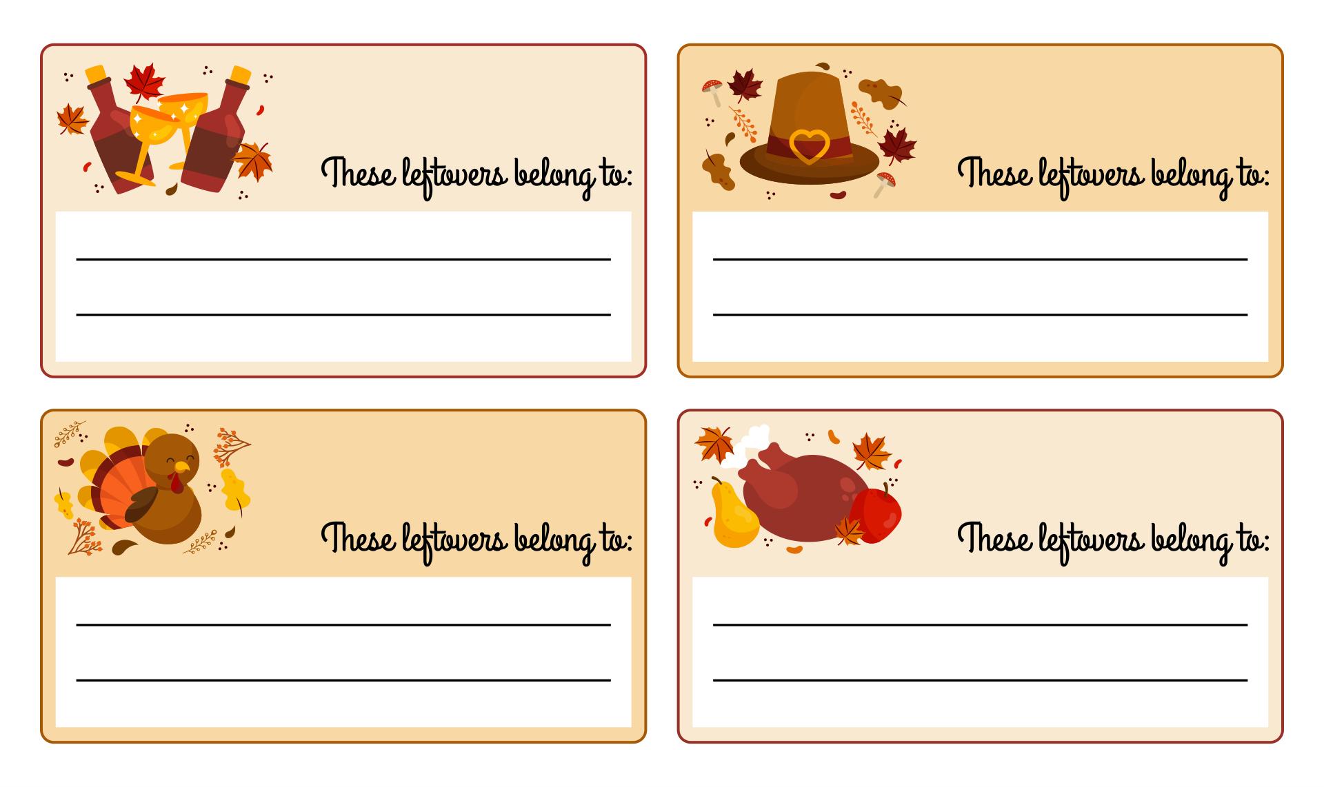 Thanksgiving Label Templates