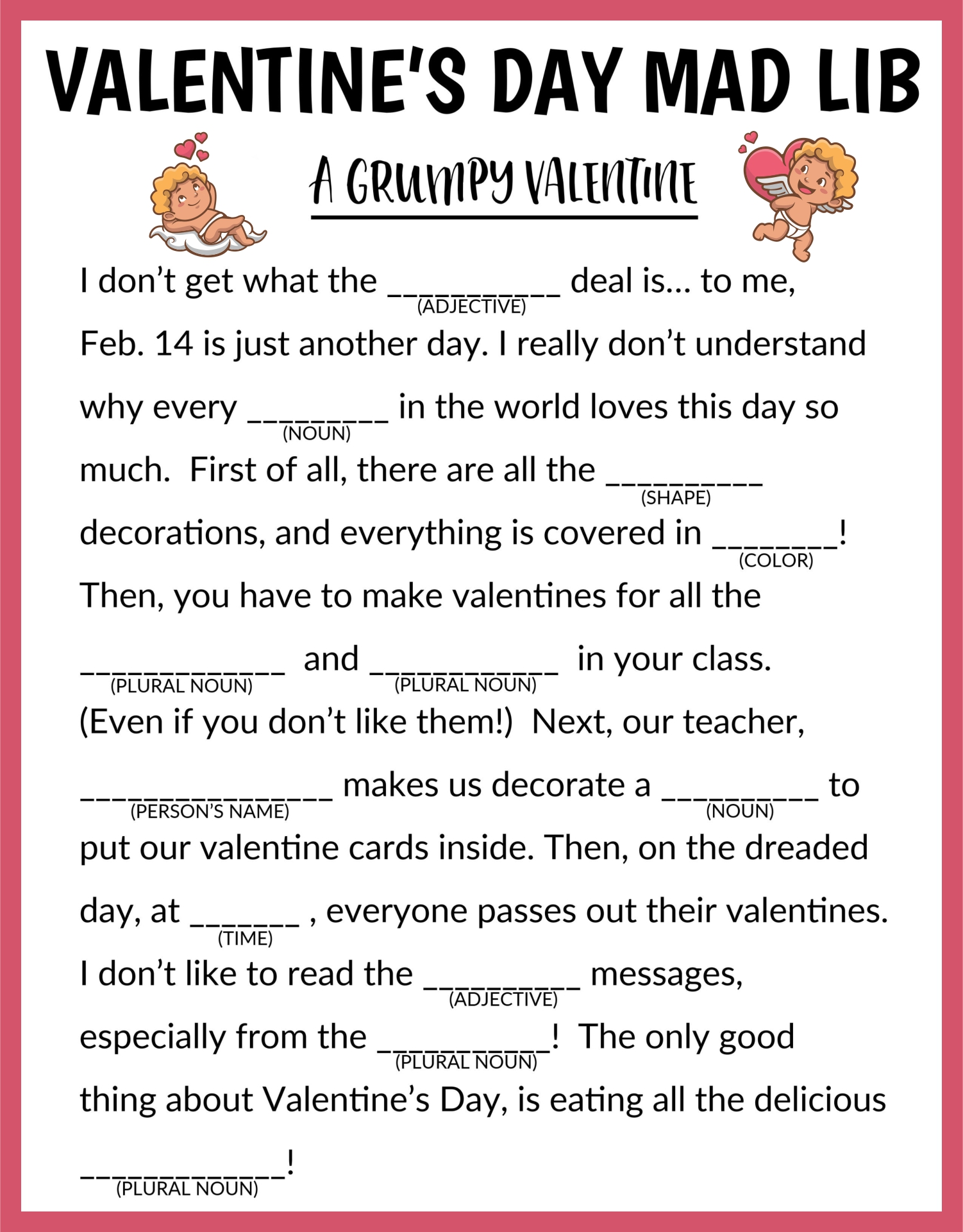 Valentines Day Printable Activities