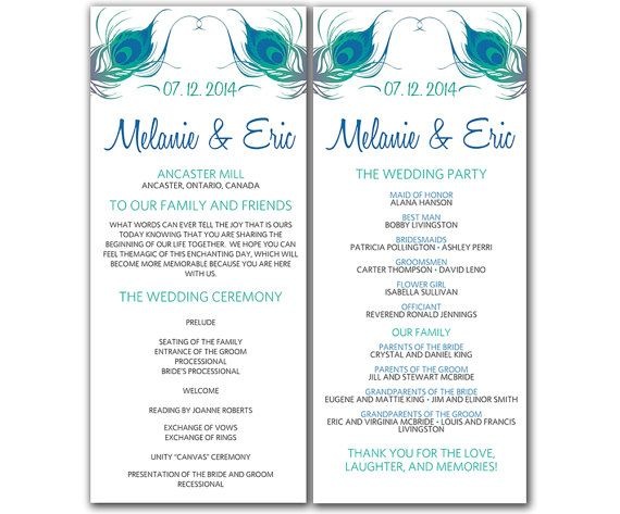 7 best images of free printable wedding ceremony programs for Free wedding program templates word