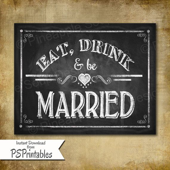 8 Images of Printable Wedding Signs