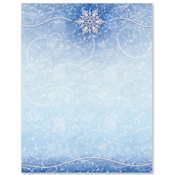 9 Images of Winter Border Paper Printable