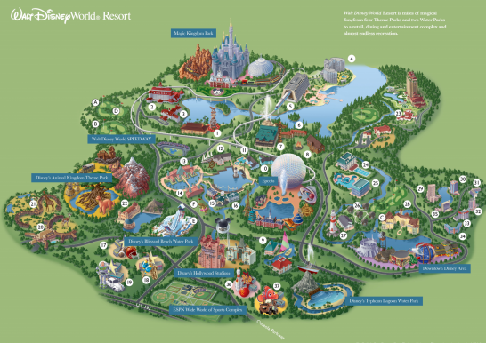 ... Map, Walt Disney World Resort Map & 2015 Walt Disney World Park Maps