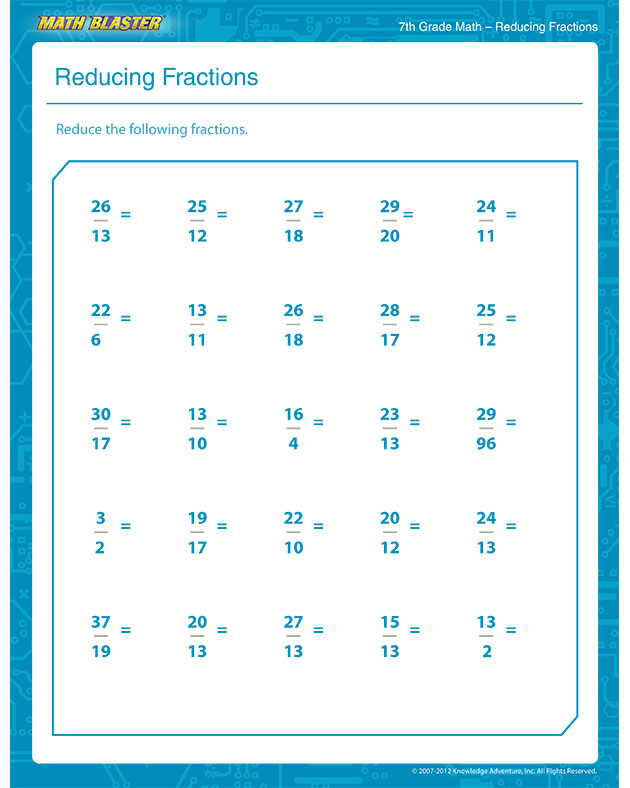 Worksheet Free Printable 7th Grade Math Worksheets Kerriwaller – Fraction Worksheets for 7th Grade