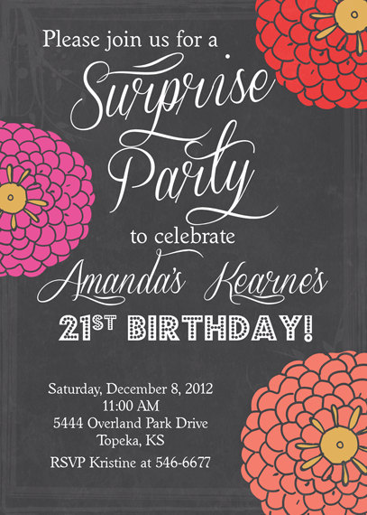 Adult Birthday Party Invitations Printable Free