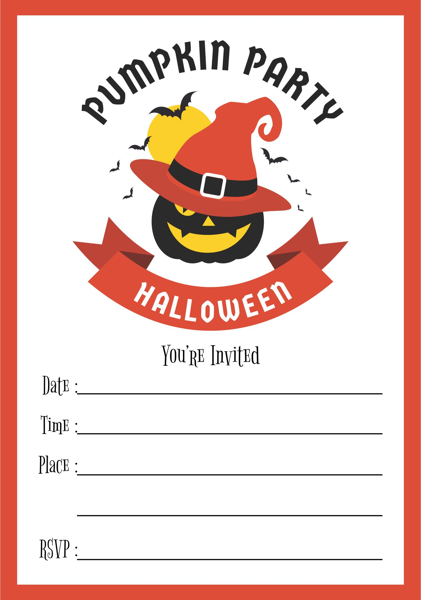 Adult Halloween Party Invitations Printable