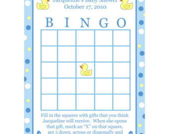 5 Images of 8X11 Blank Printable Baby Shower Bingo Cards