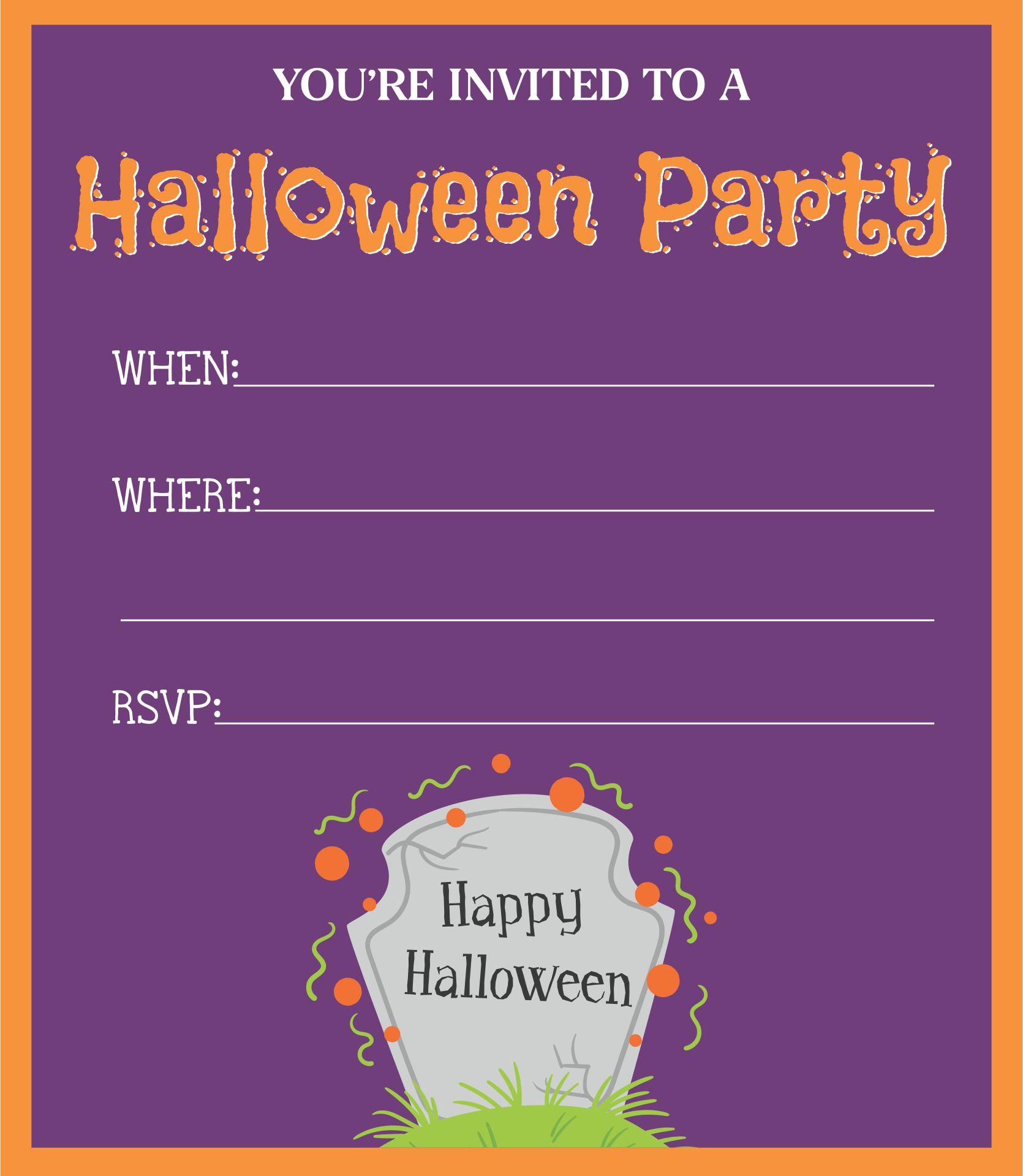 Blank halloween invitation template