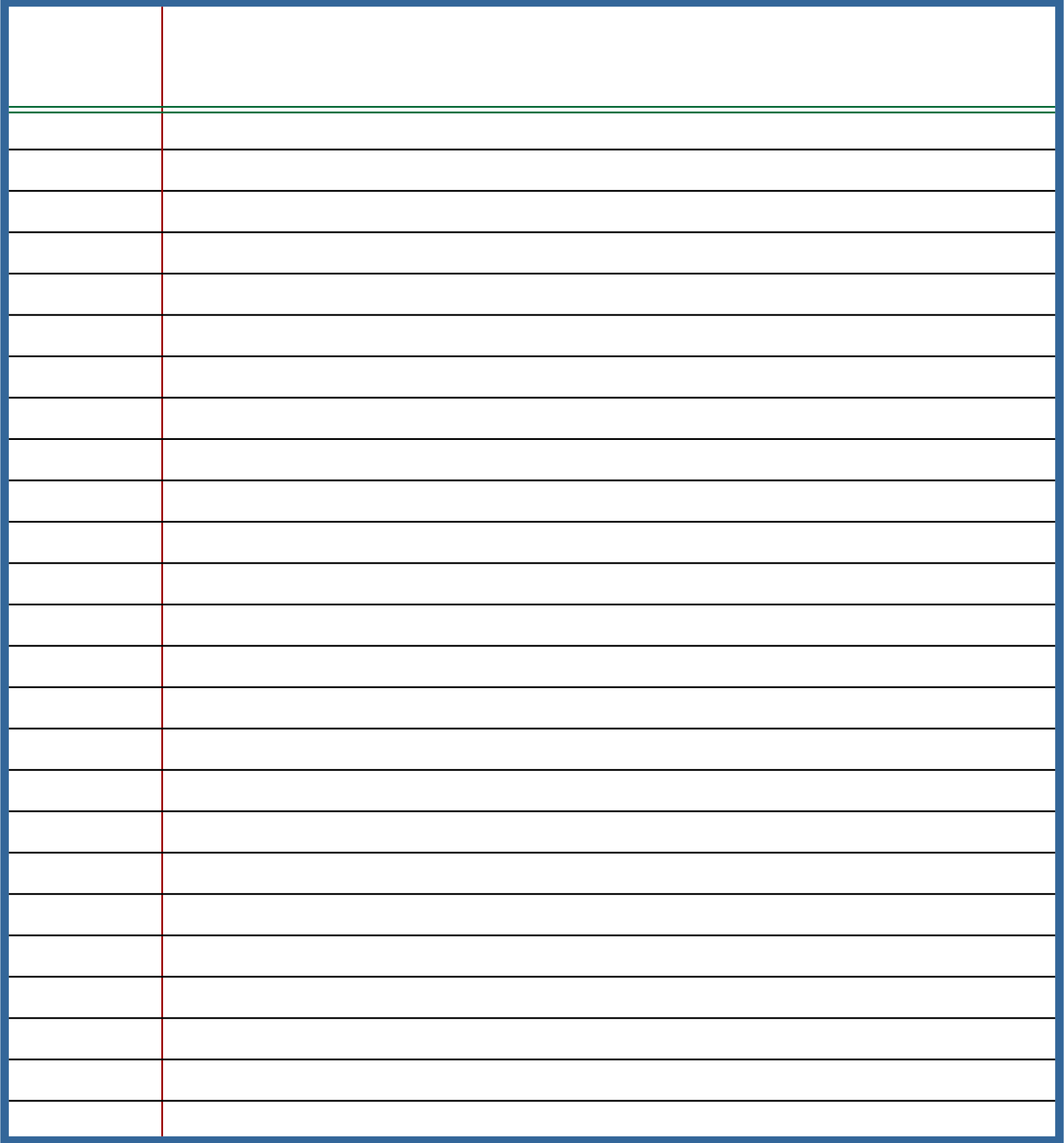 Blank Lined Writing Paper Printable