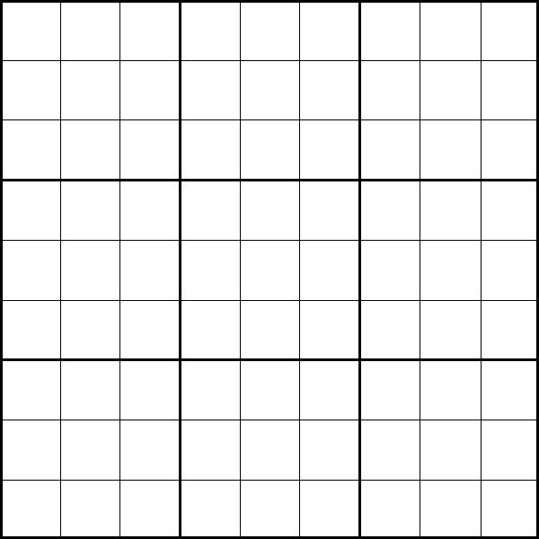 6 Images of Printable Sudoku Template