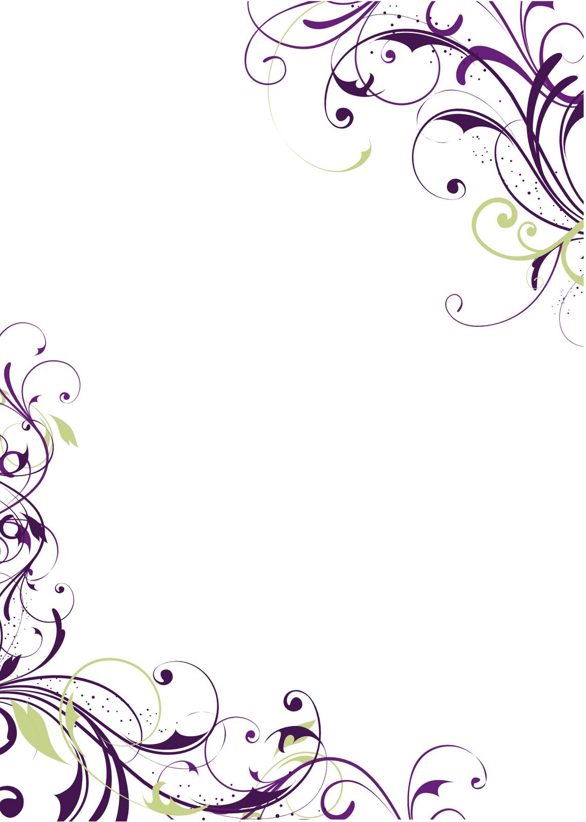 8 best images of free printable wedding invitation for Wedding invitation page borders free download