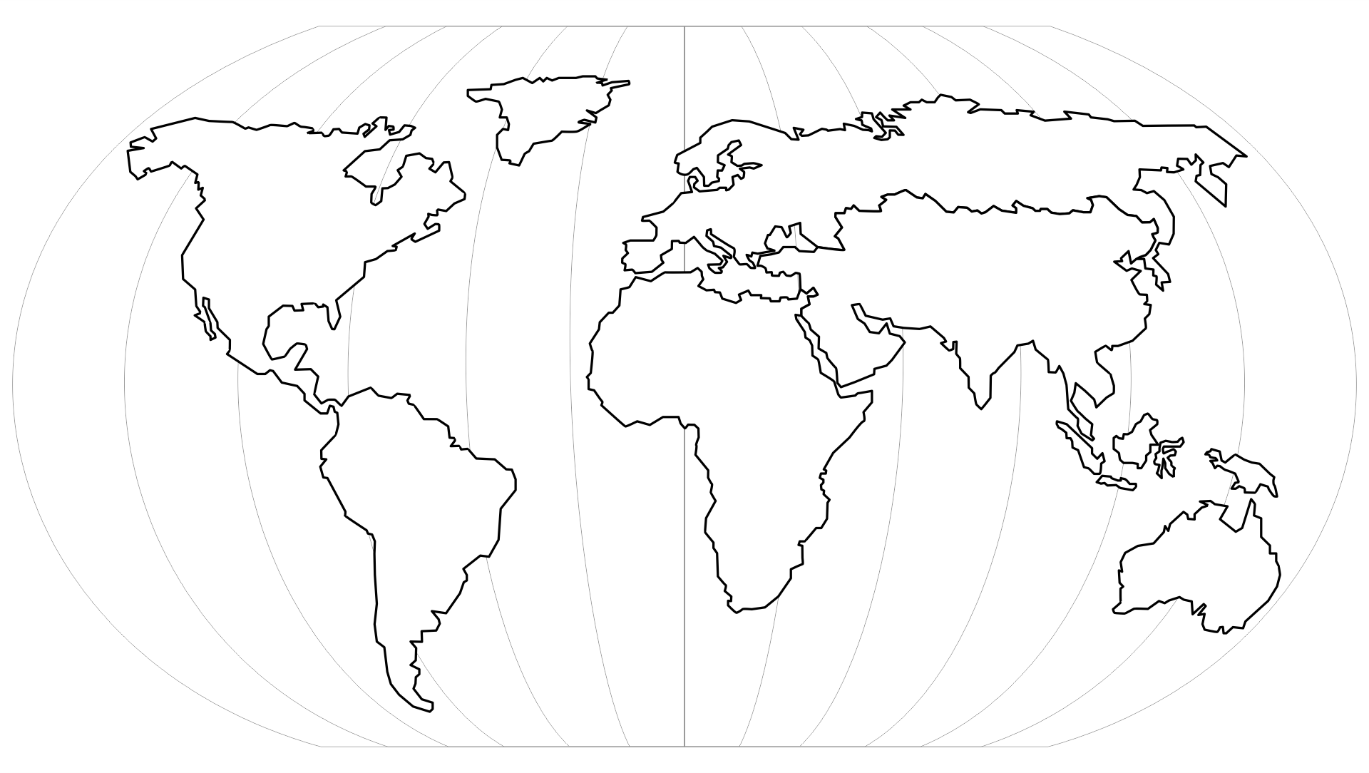 Blank World Map Outline