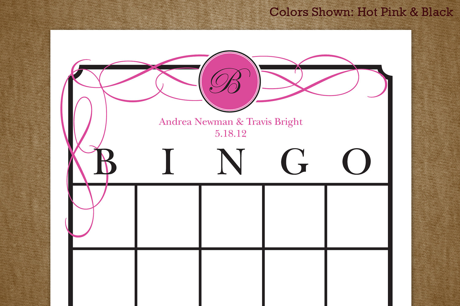 Printable Wedding Gift Card Free : ... Bridal Shower Bingo Printable Cards and Free Printable Bridal Shower