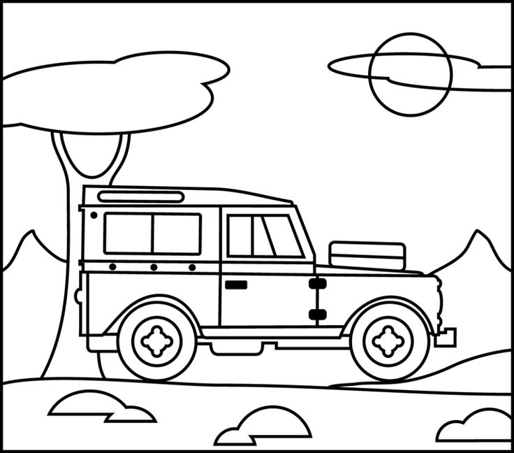 5 Images of Jeep Coloring Pages Printable