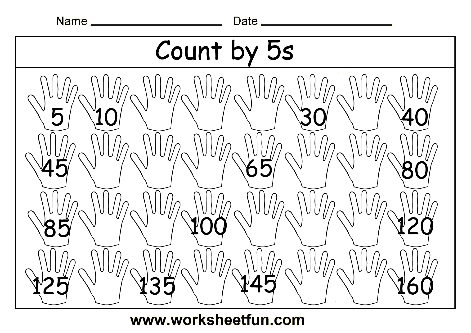Skip Counting Worksheets Grade 1 - Coffemix