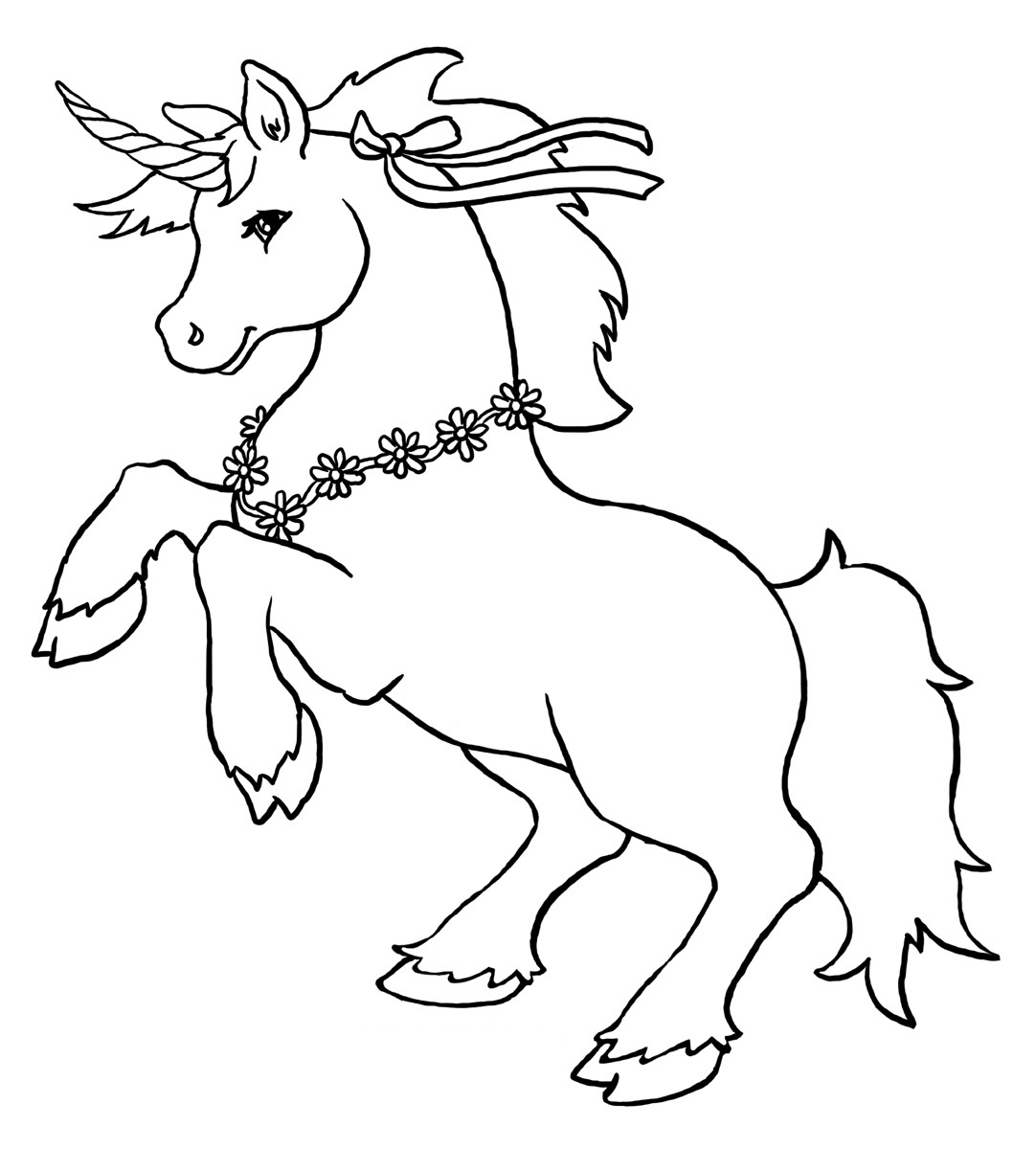 5 Images of Printable Unicorns To Color