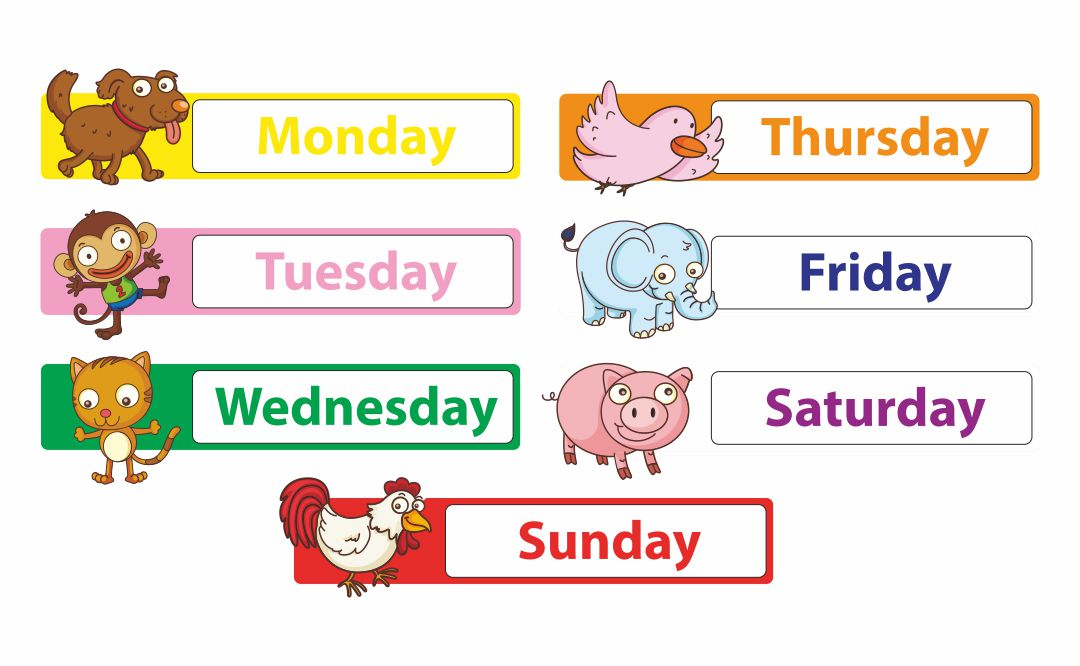 how to teach days of the week to kindergarten