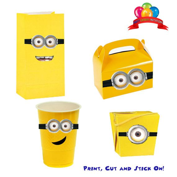 Despicable Me Minions Printable Birthday Party