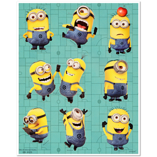 Despicable Me Sticker Sheet