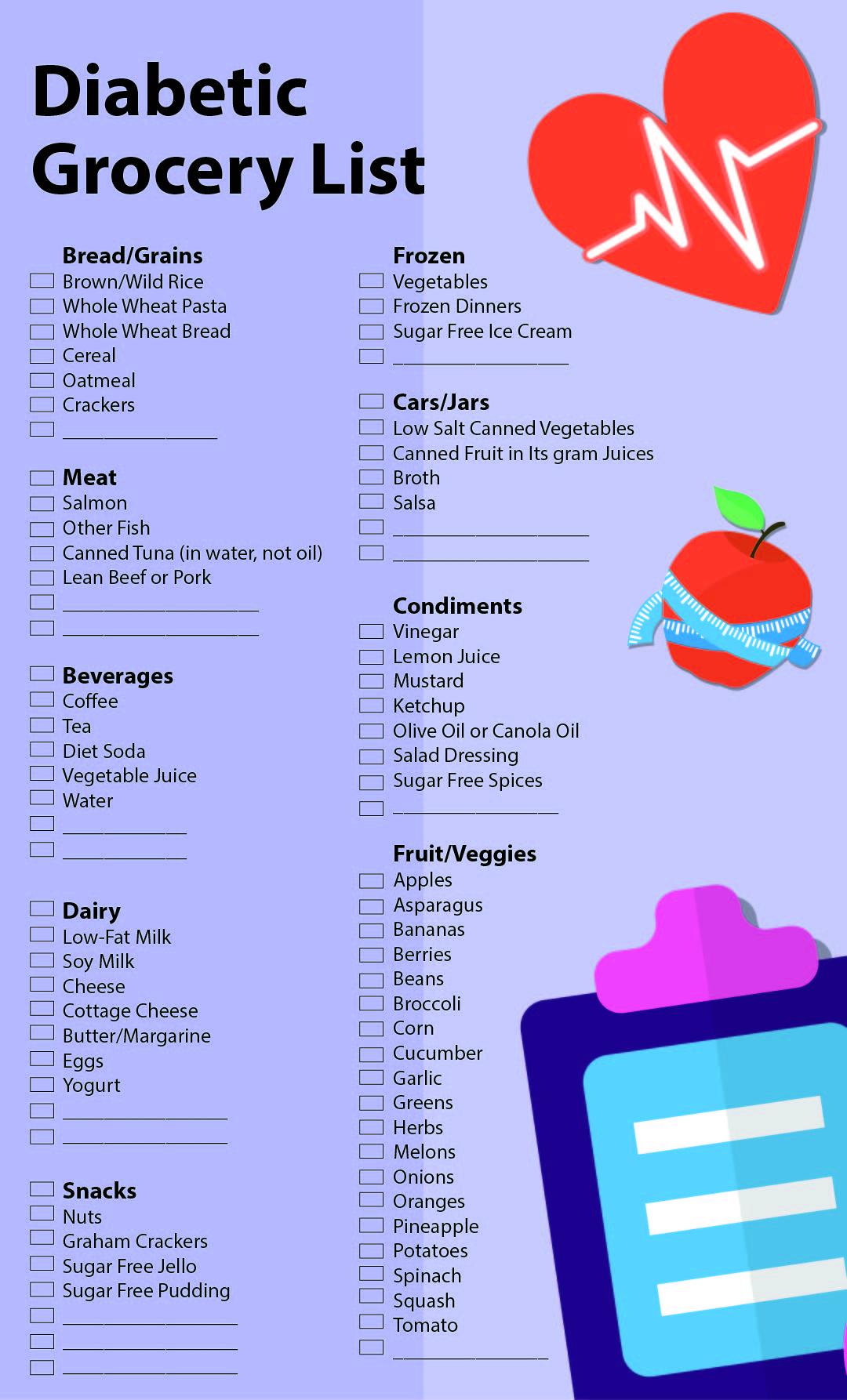 Diabetic Food Grocery List
