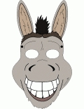 6 Images of Printable Donkey Mask