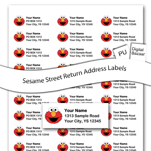 Elmo Return Address Labels Printable