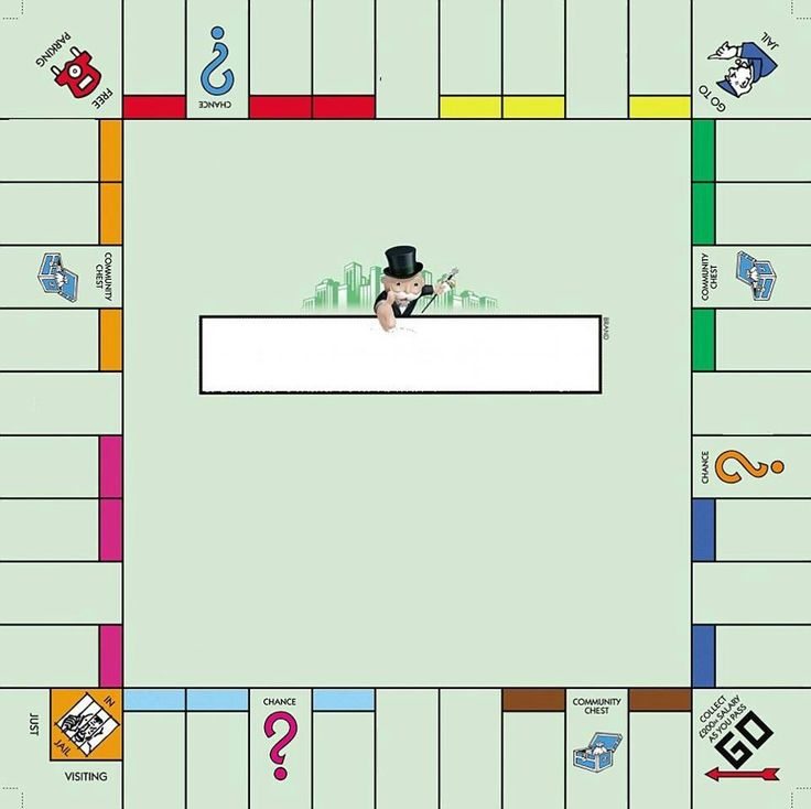 5 best images of printable monopoly game board template for Monopoly money templates