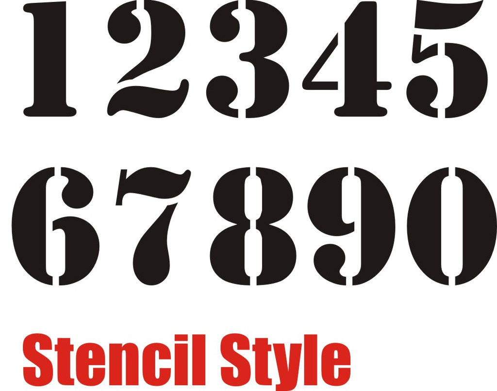7 best images of small printable stencil numbers 1 10 for Free number templates to print