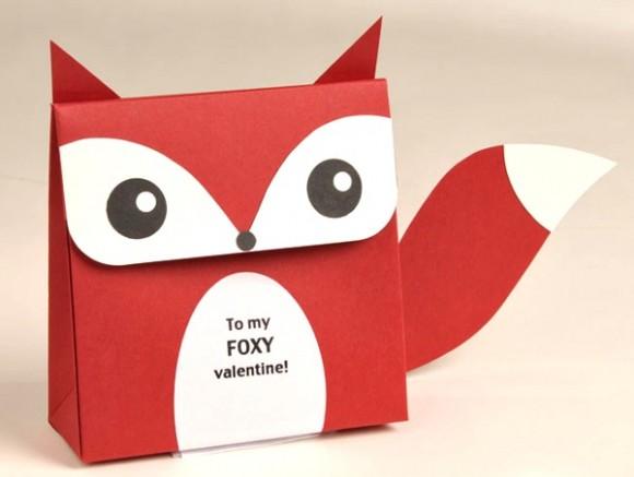 Fox Valentine's Day Box
