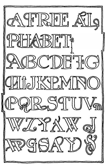 Free Alphabet Stencil Templates