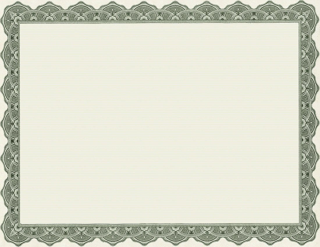 4 best images of printable of blank certificate borders for Free printable certificate templates
