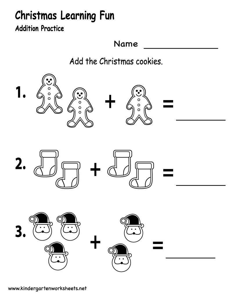 math worksheet : 6 best images of free printable christmas math worksheets  : Free Christmas Math Worksheets