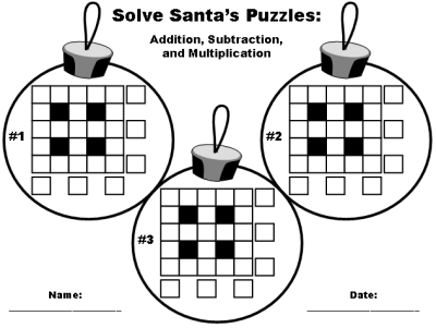 math worksheet : 6 best images of free printable christmas math worksheets  : Holiday Math Worksheets