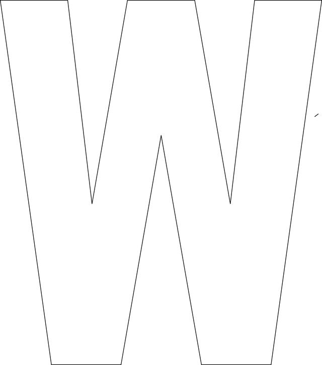 Free Printable Alphabet Letters W