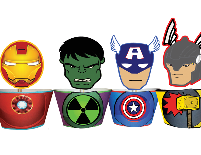 Cupcake Toppers Free Printable Avengers Coloring Pages amp