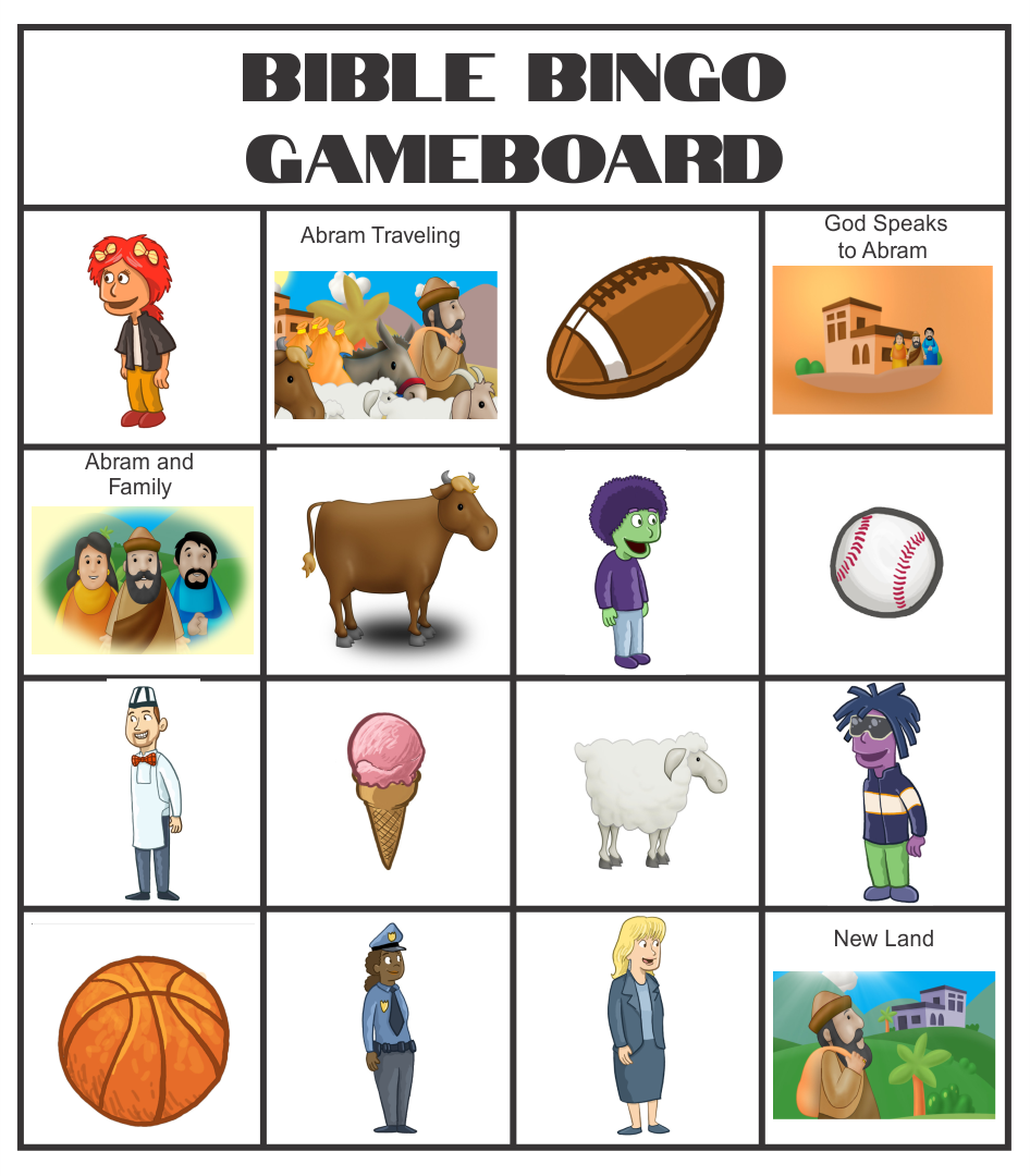 Printable Bible Bingo Cards