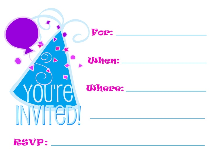 8 Images of Printable Party Invitations For Adults