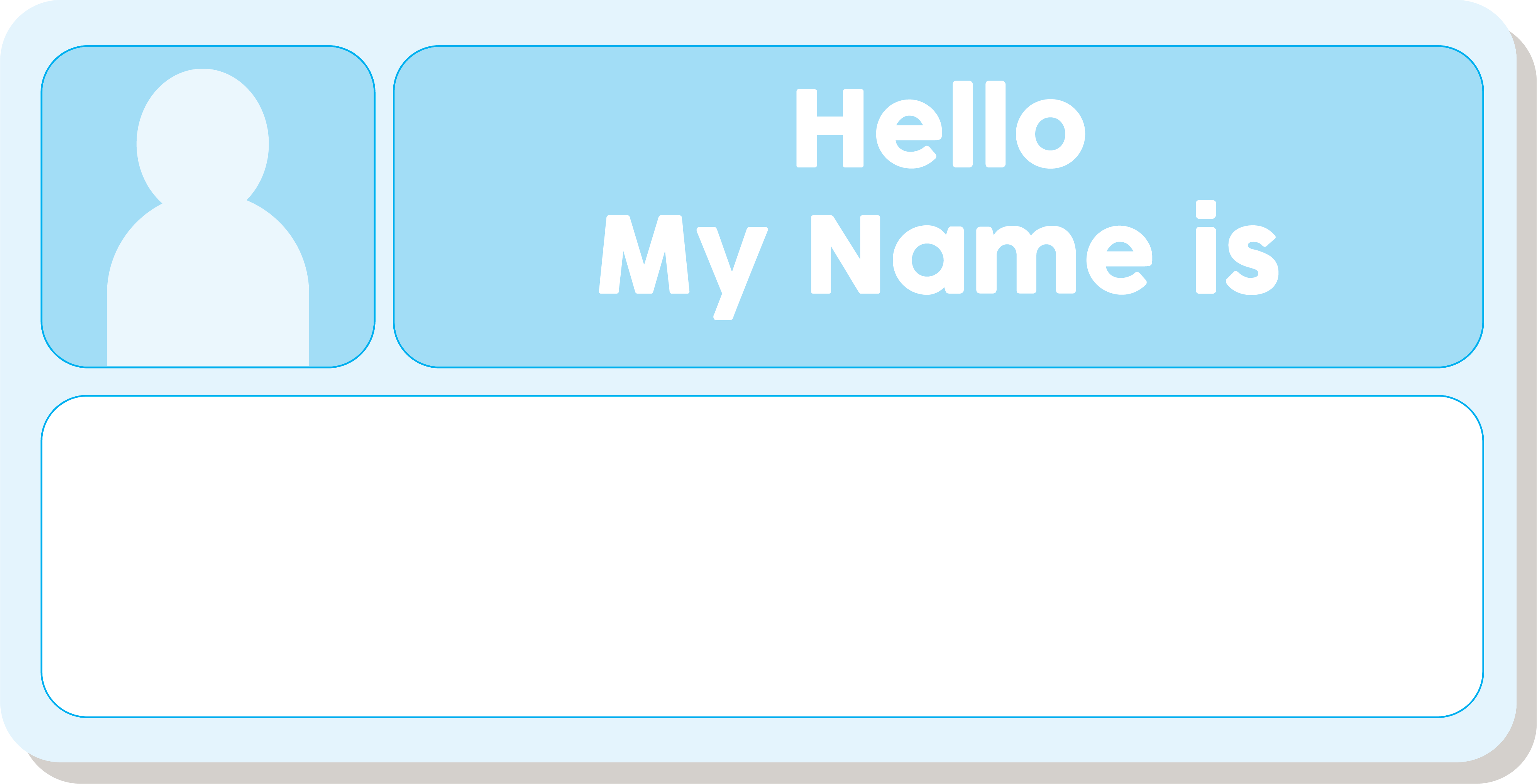 Printable Blank Name Tags