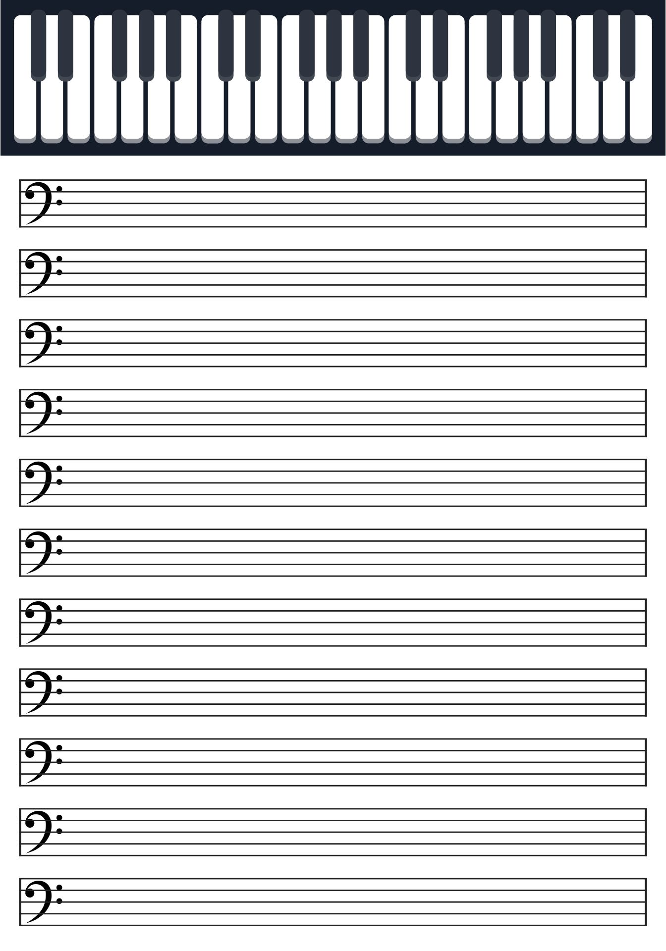 Printable Blank Piano Sheet Music