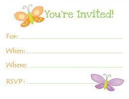 Free Printable Butterfly Birthday Invitations Templates