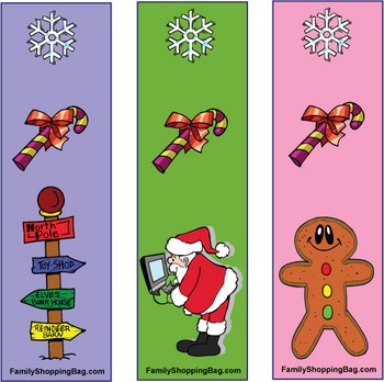 7 Images of Happy Holidays Free Printable Bookmarks