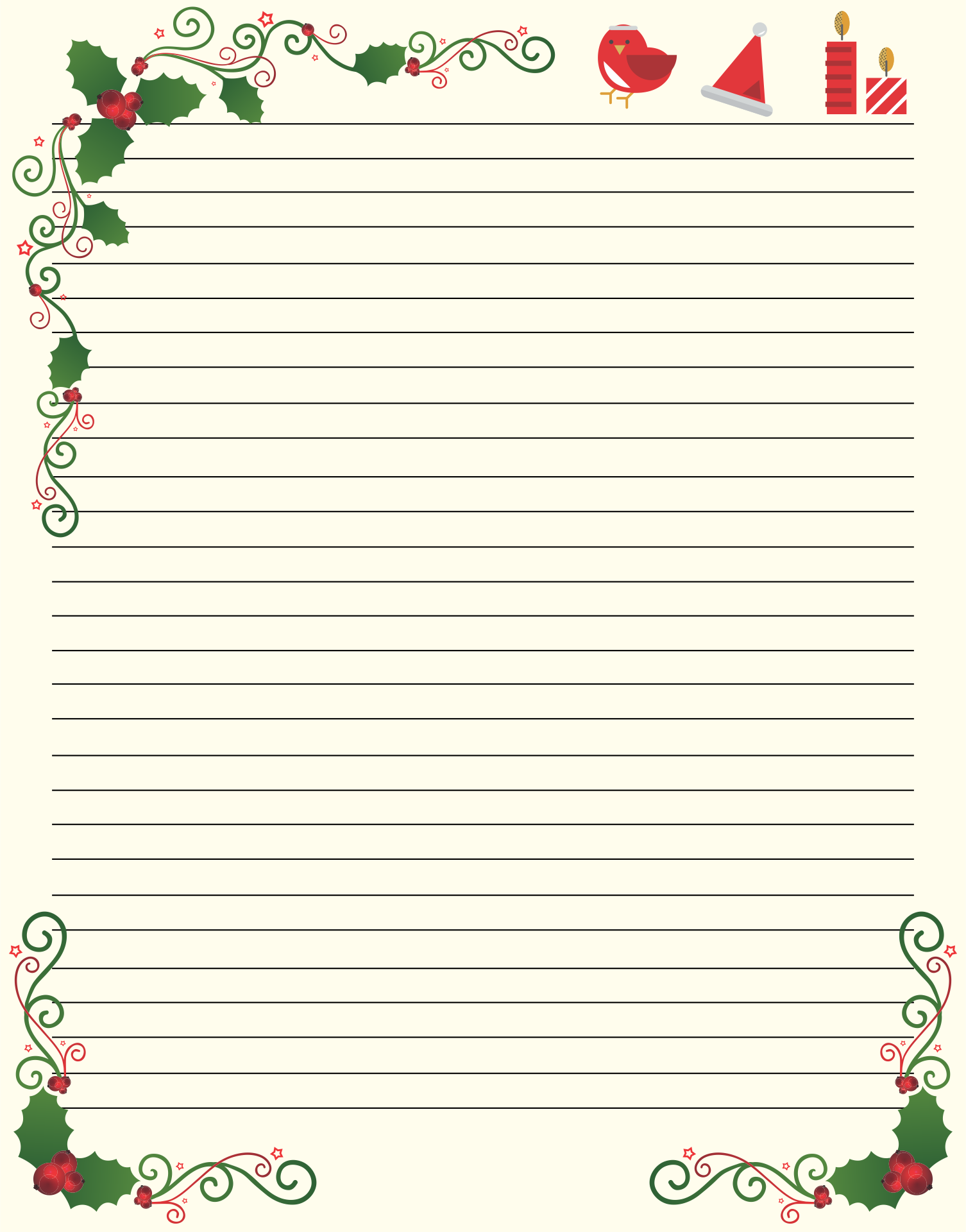 Printablee Post Free Printable Christmas Stationery Designs
