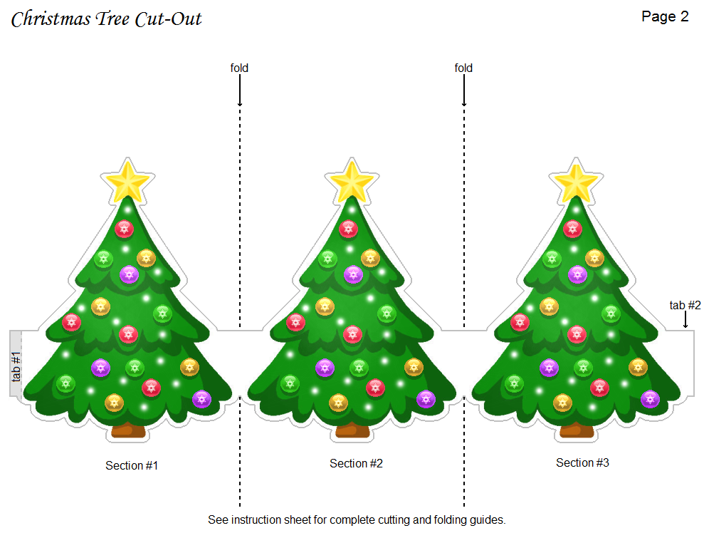 5 Images of Christmas Tree Cutouts Printable