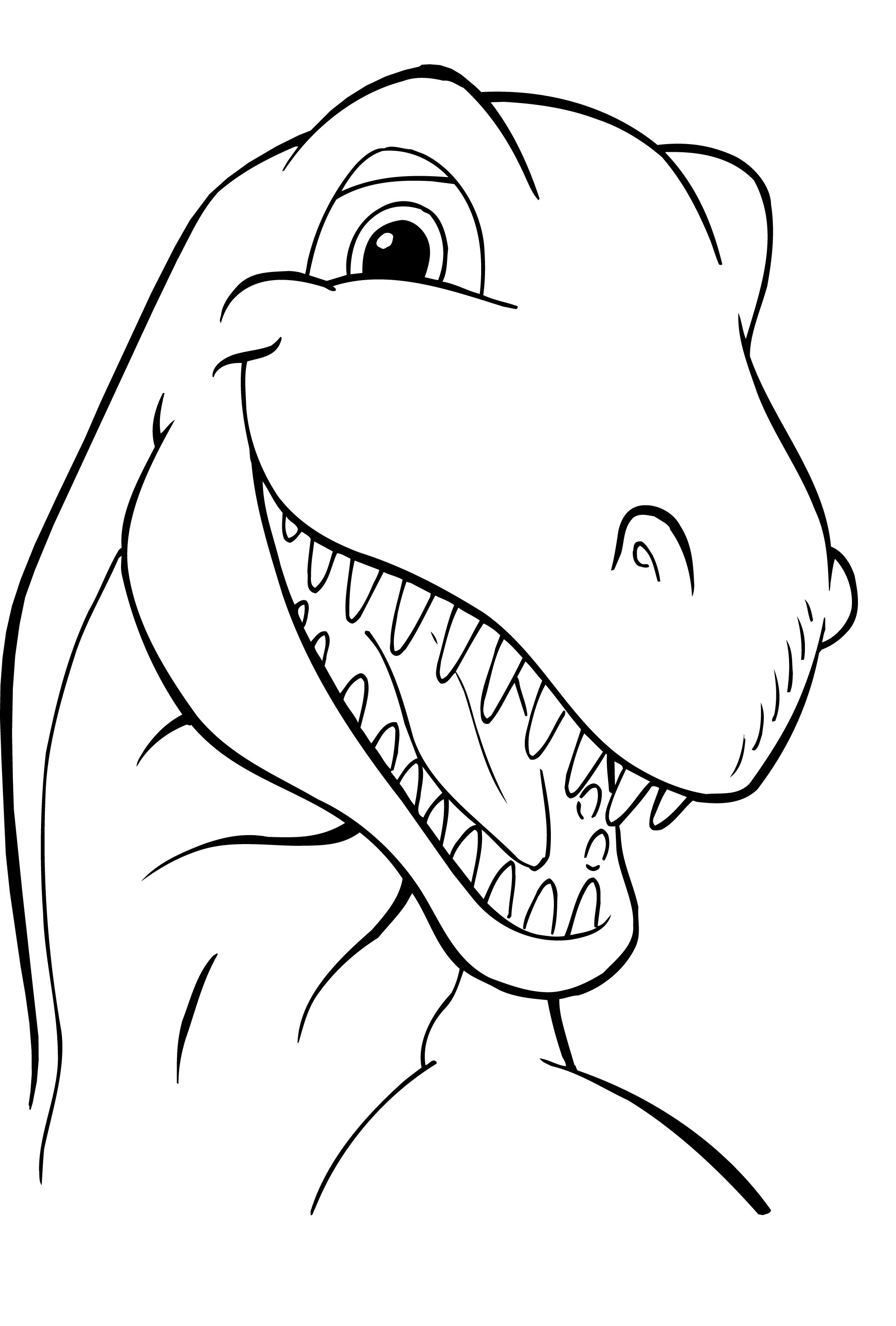 5 Images of Free Color Printable Dinosaur Coloring Pages